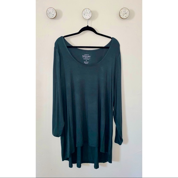 Torrid Super Soft Long Sleeve Emerald Green Shirt
